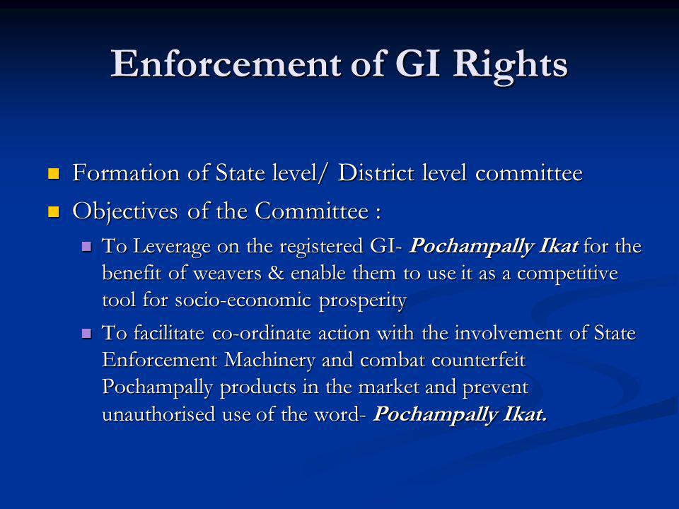 Enforcement of GI Rights