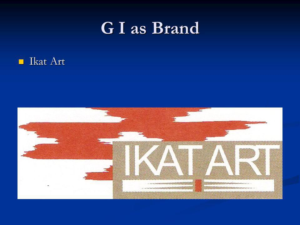 G I as Brand Ikat Art