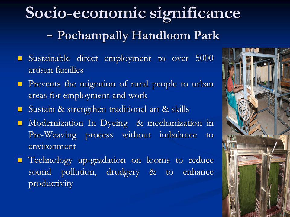 Socio-economic significance - Pochampally Handloom Park