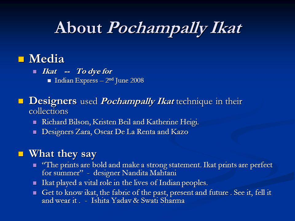 About Pochampally Ikat
