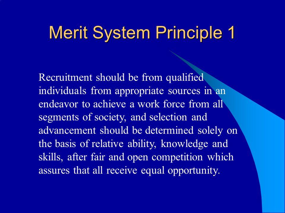 Merit System Principle 1