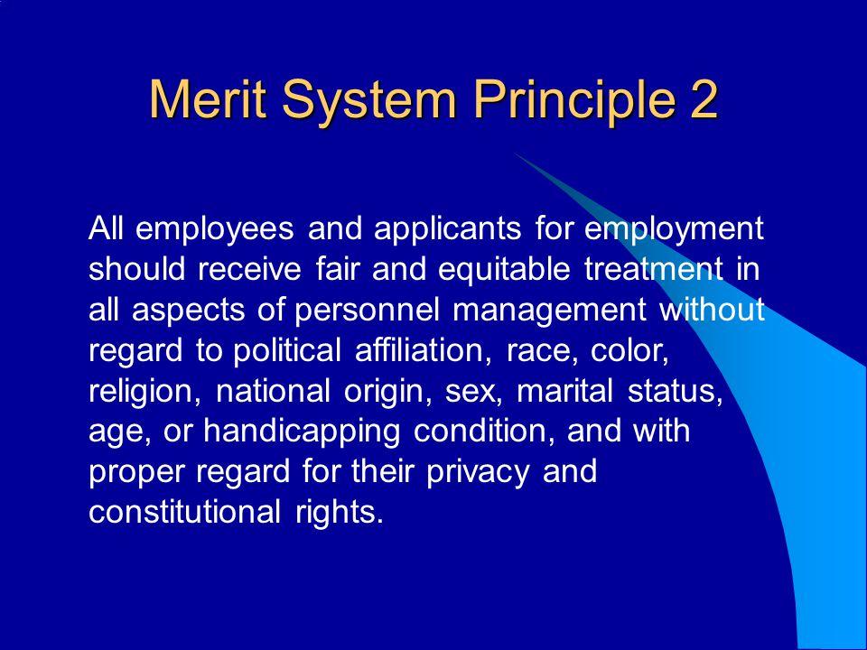 Merit System Principle 2