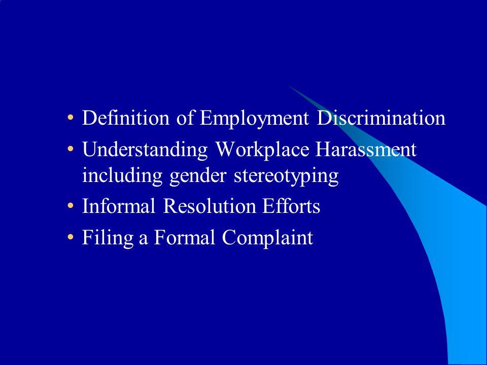 Definition of Employment Discrimination