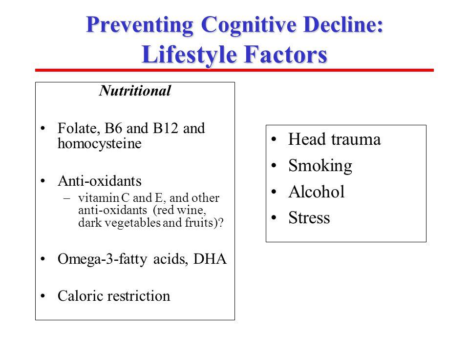 Preventing Cognitive Decline: Lifestyle Factors