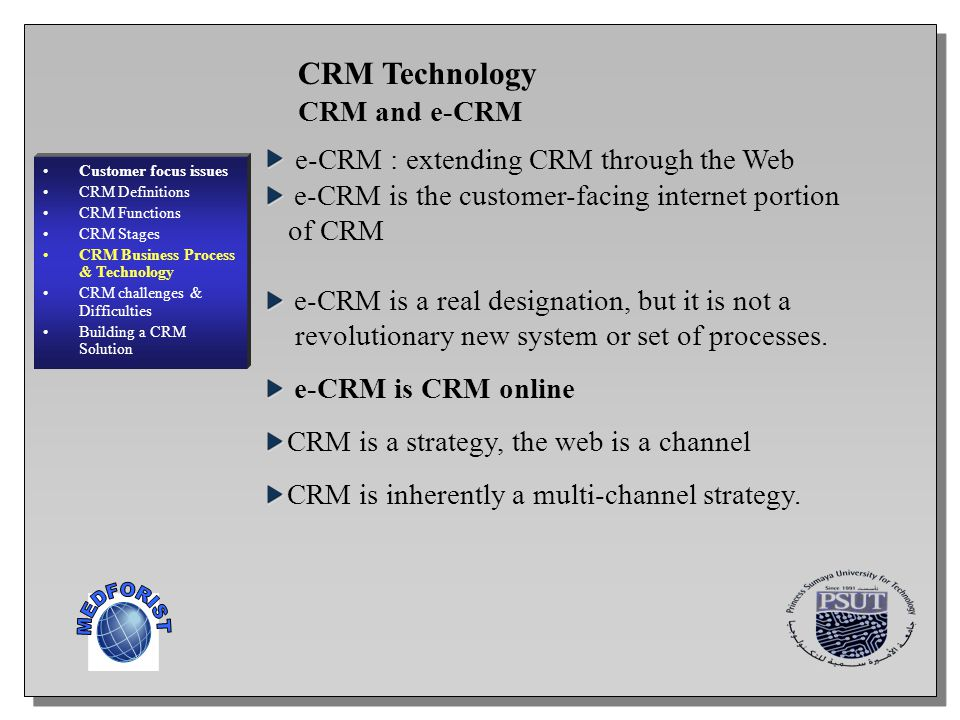 MEDFORIST CRM Technology CRM and e-CRM