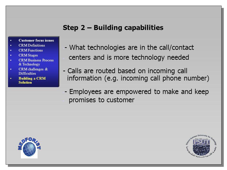 MEDFORIST Step 2 – Building capabilities