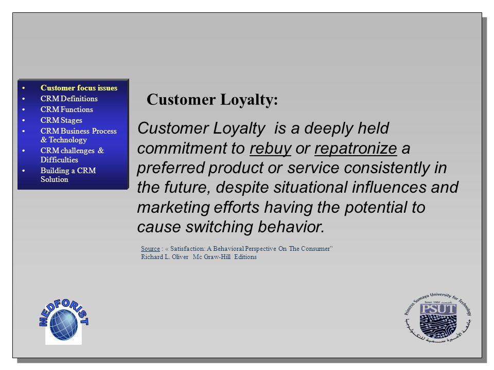 Customer Loyalty: MEDFORIST