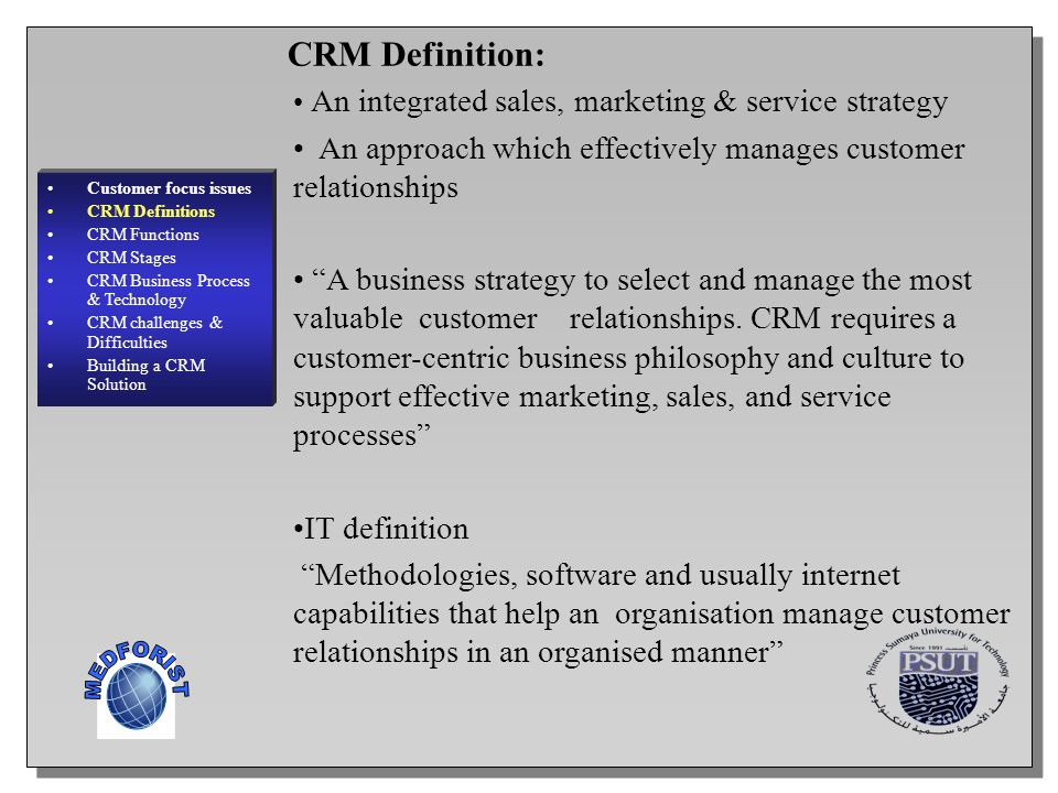 CRM Definition: MEDFORIST
