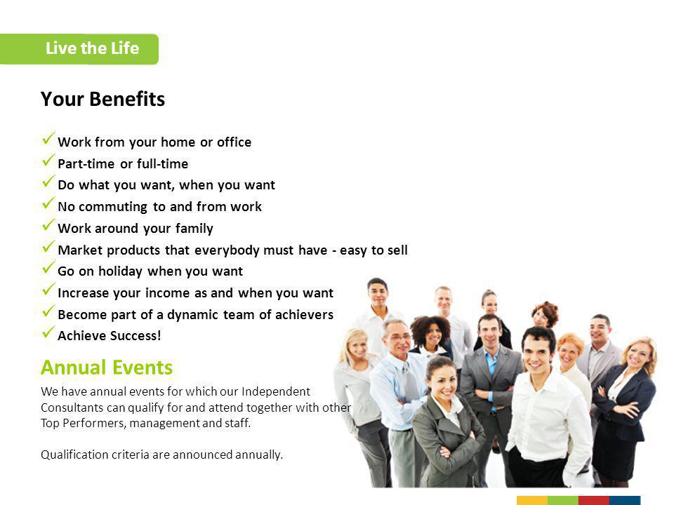 Your Benefits Annual Events Live the Life