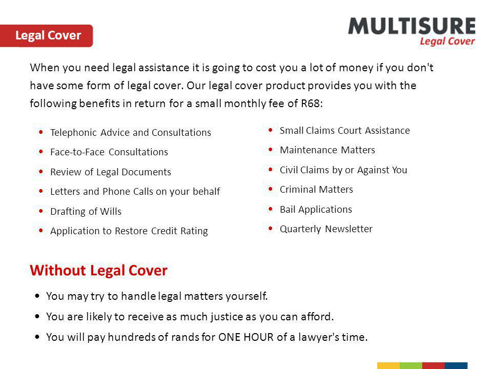 Without Legal Cover Legal Cover