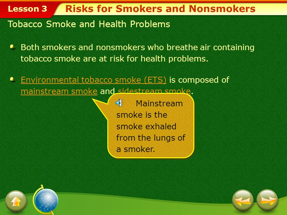 Risks for Smokers and Nonsmokers