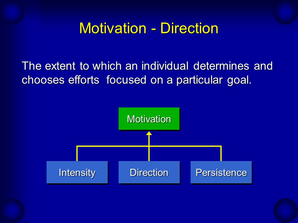 Motivation - Direction
