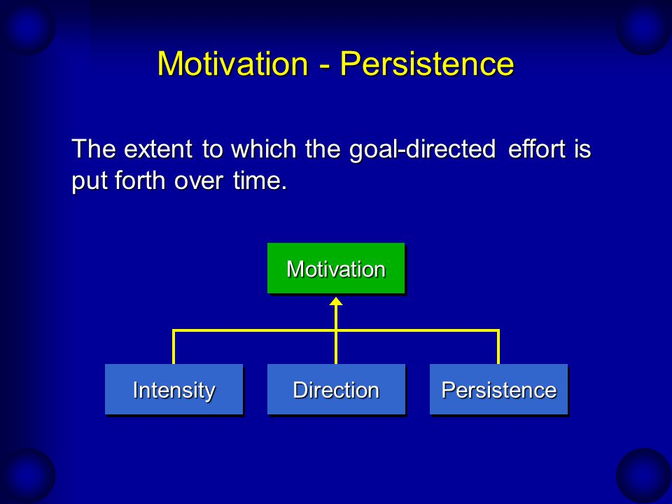 Motivation - Persistence