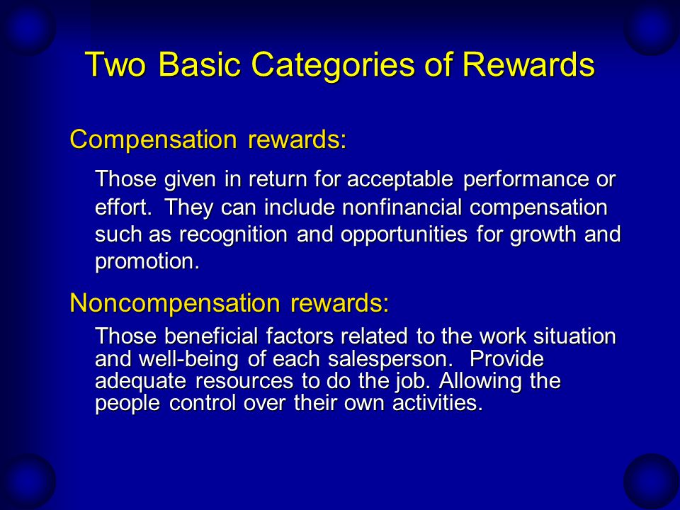 Two Basic Categories of Rewards