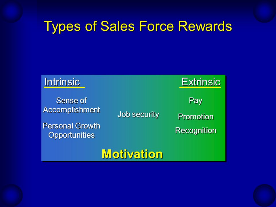 Types of Sales Force Rewards