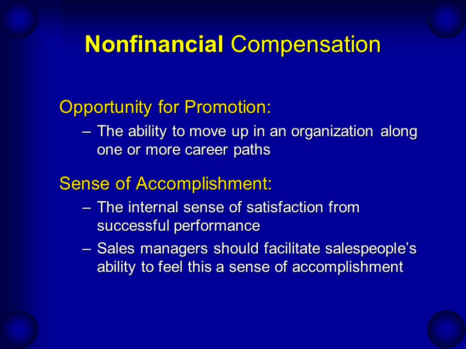 Nonfinancial Compensation