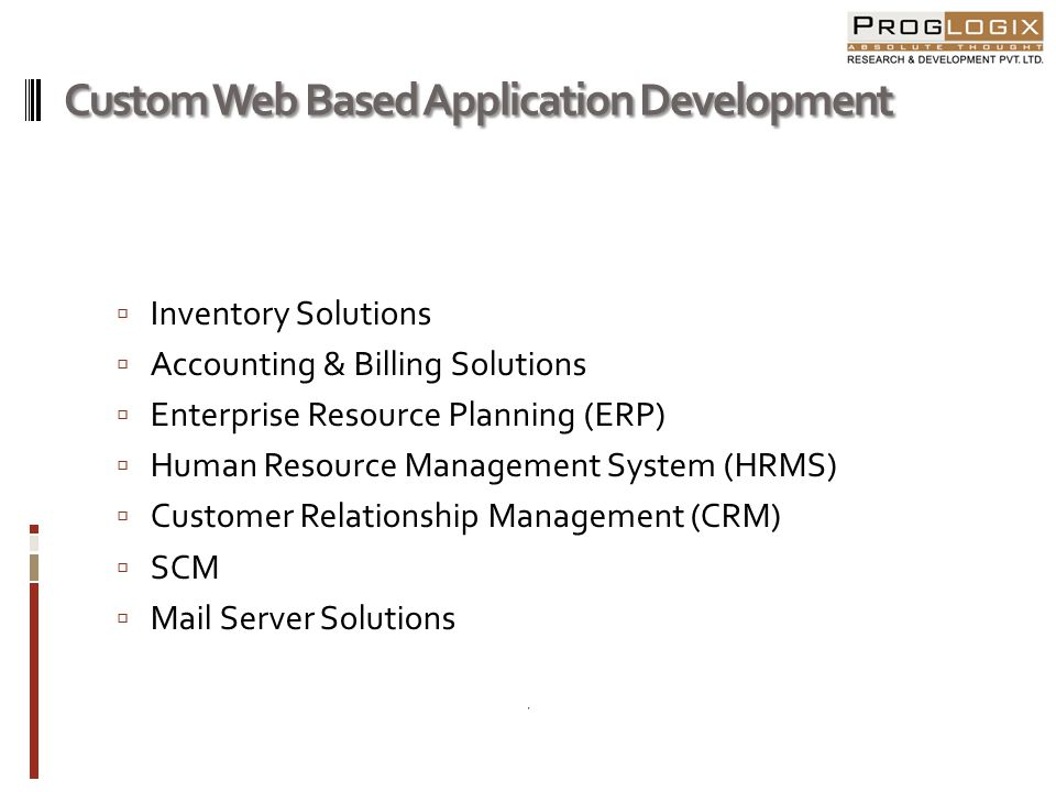 Custom Web Based Application Development
