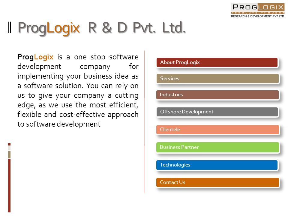 ProgLogix R & D Pvt. Ltd.