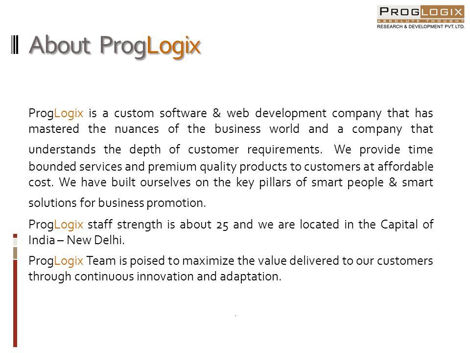 About ProgLogix