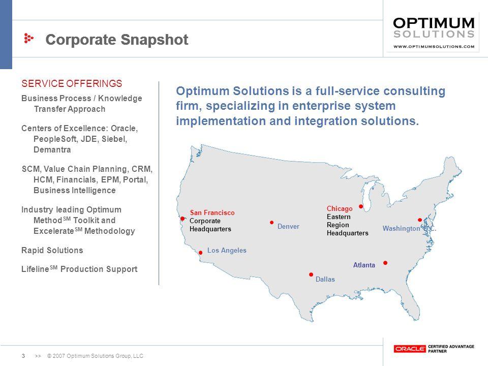 Corporate Snapshot Corporate Snapshot