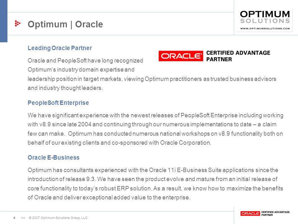Optimum | Oracle Leading Oracle Partner