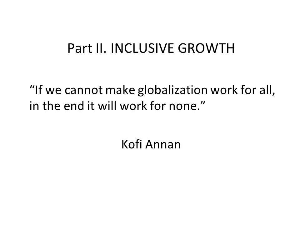 Part II. INCLUSIVE GROWTH