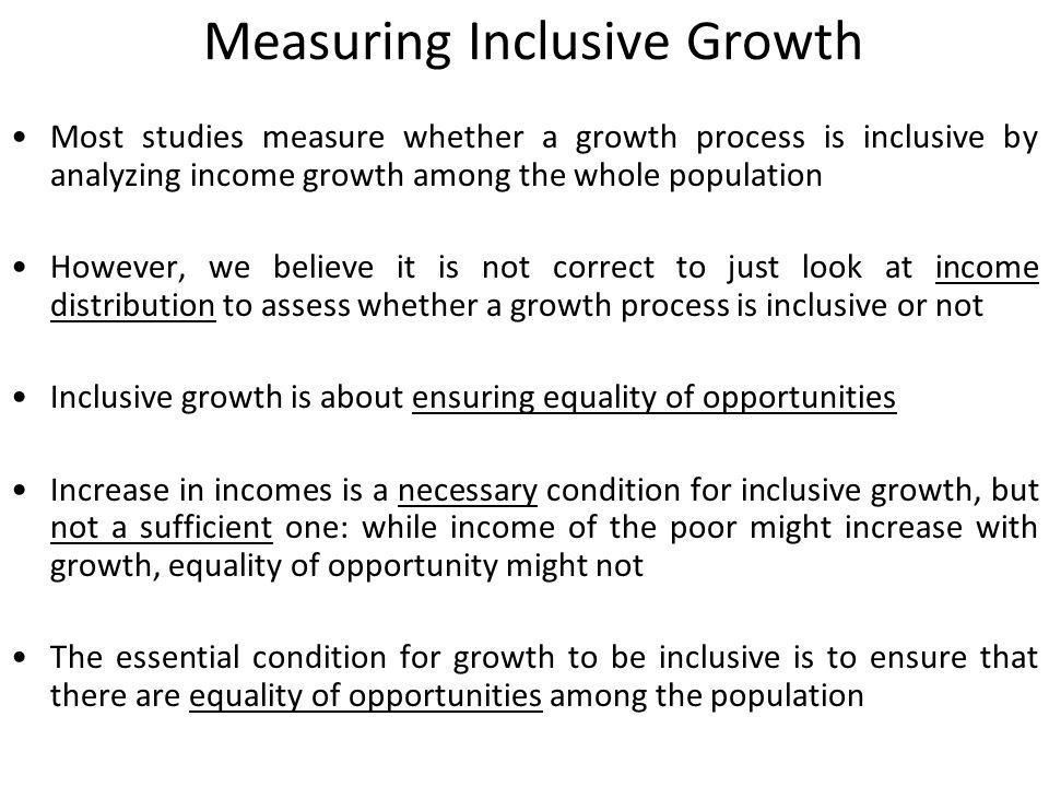 Measuring Inclusive Growth