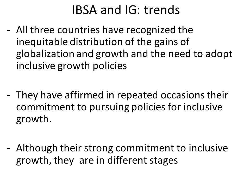 IBSA and IG: trends