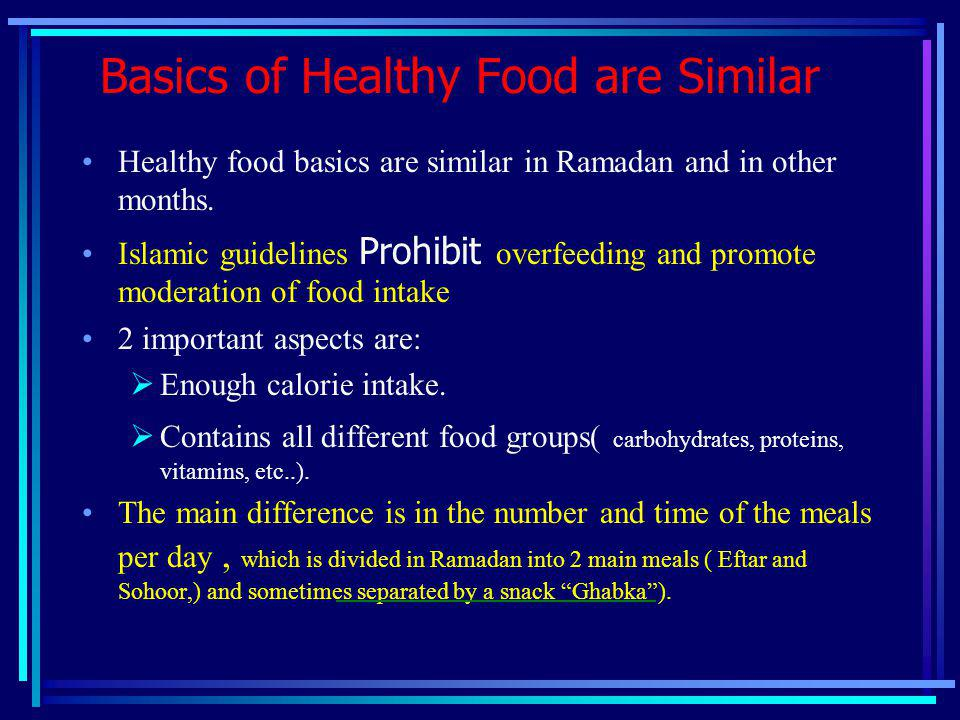Basics of Healthy Food are Similar