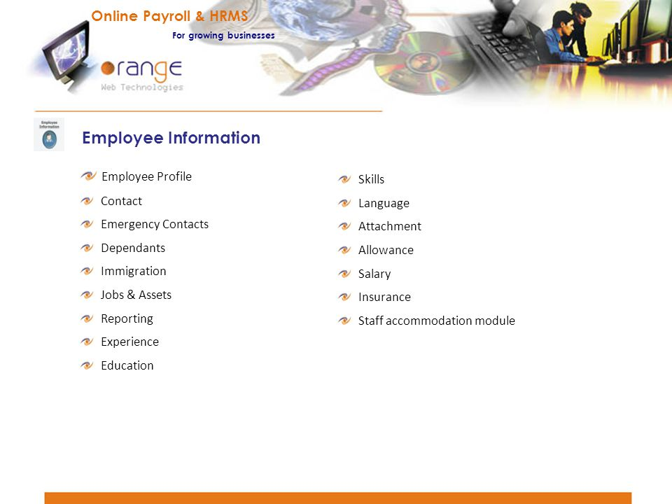 Employee Information Online Payroll & HRMS Employee Profile