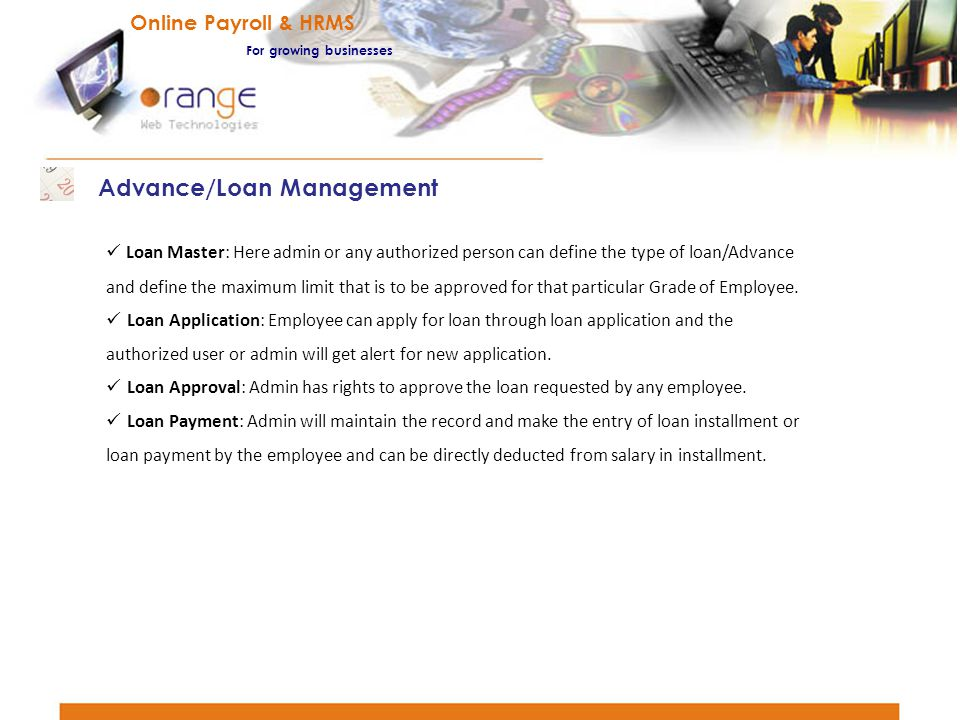 Advance/Loan Management