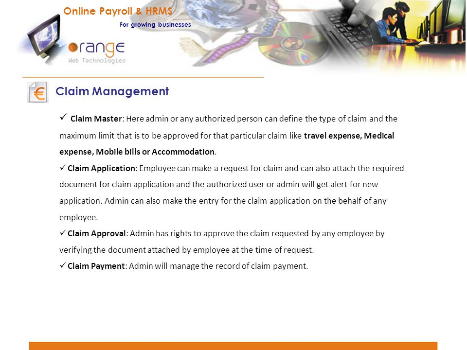 Claim Management Online Payroll & HRMS