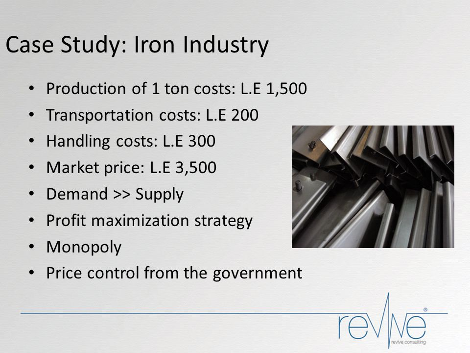 Case Study: Iron Industry