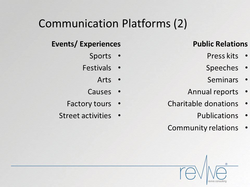 Communication Platforms (2)