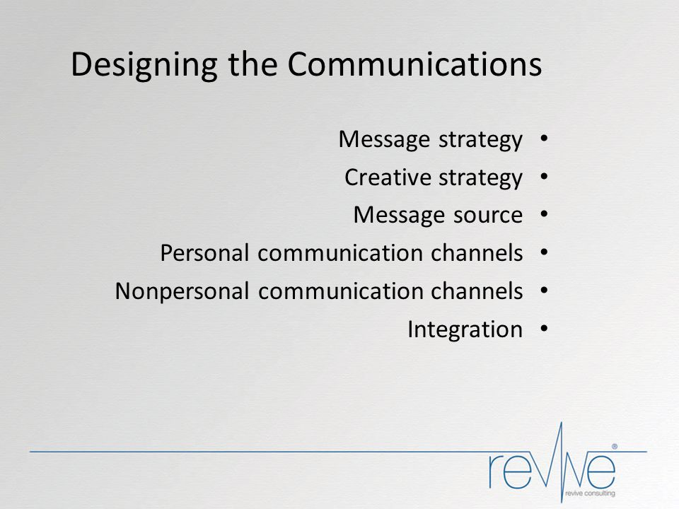 Designing the Communications