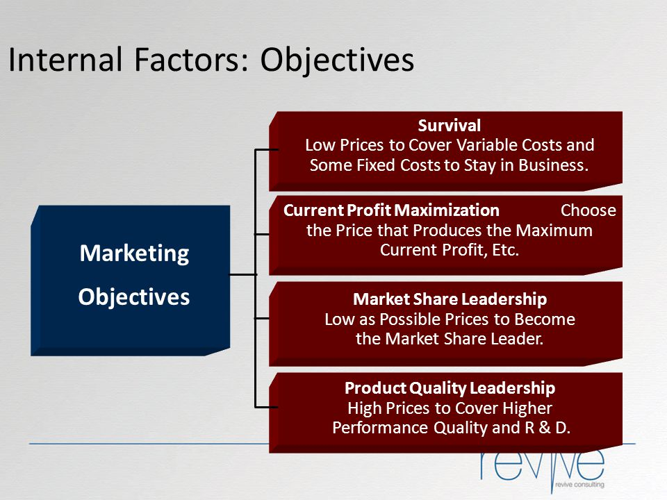 Internal Factors: Objectives
