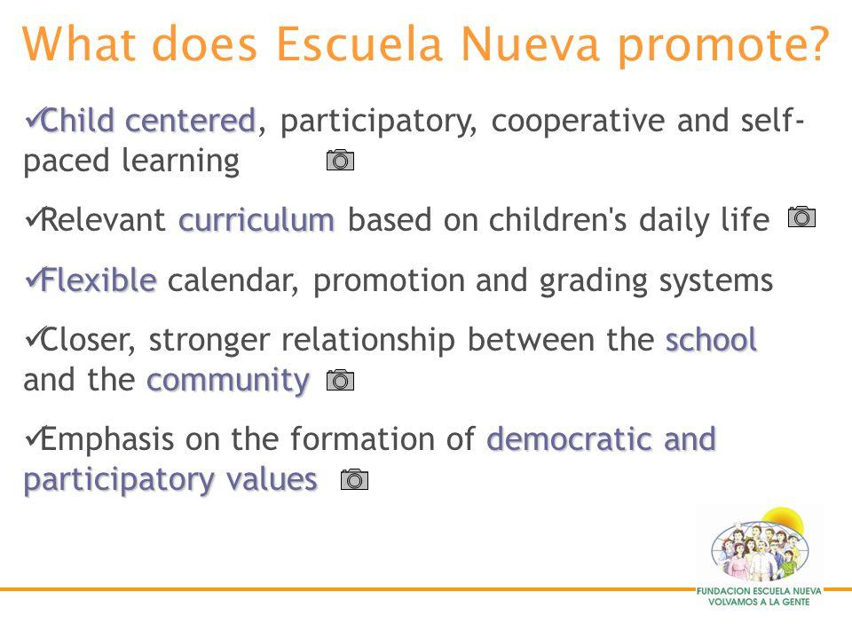 What does Escuela Nueva promote