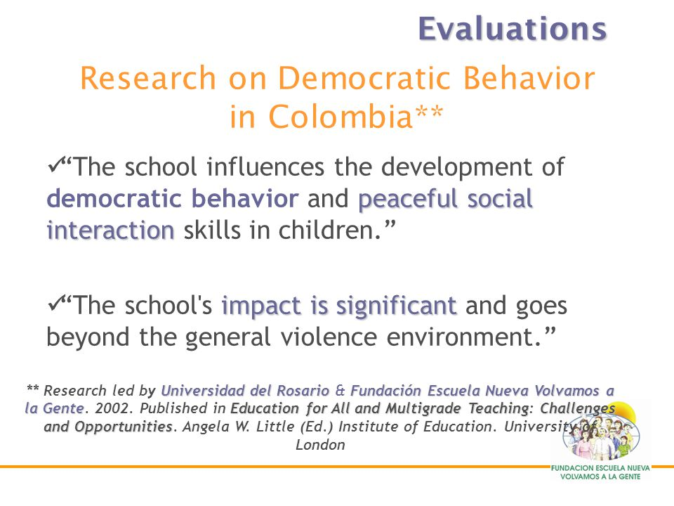 Research on Democratic Behavior in Colombia**