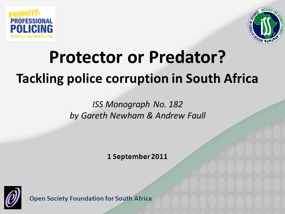 Tackling police corruption in South Africa