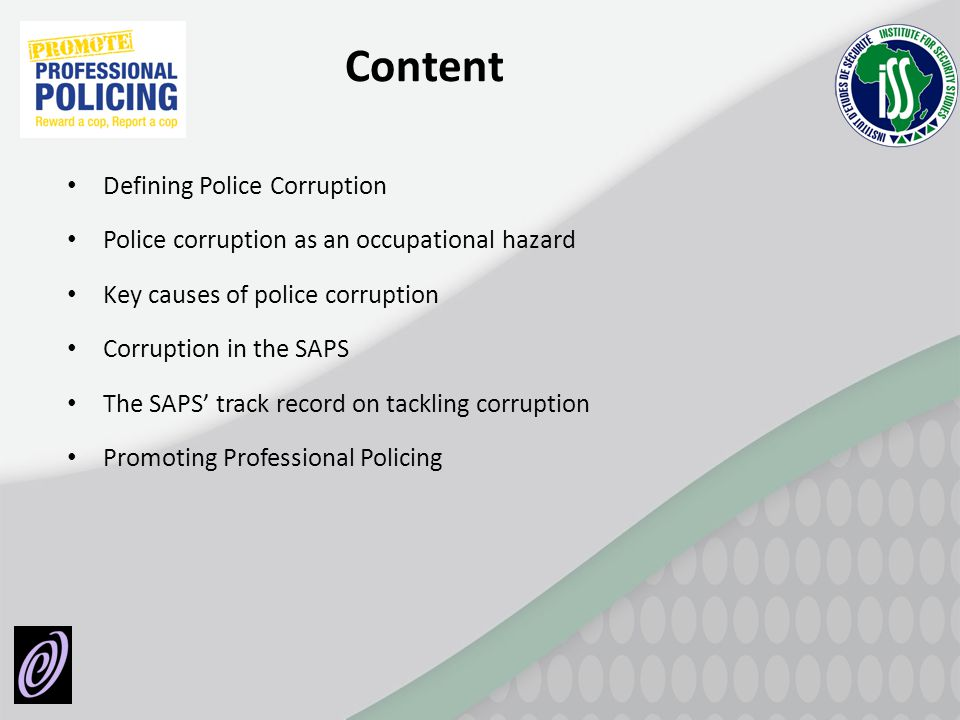 Content Defining Police Corruption