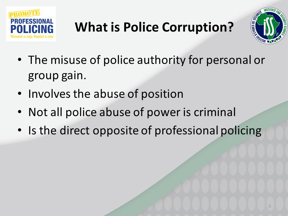 What is Police Corruption