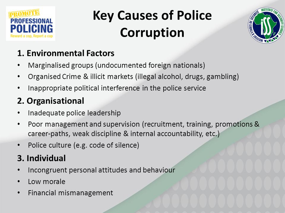 Key Causes of Police Corruption