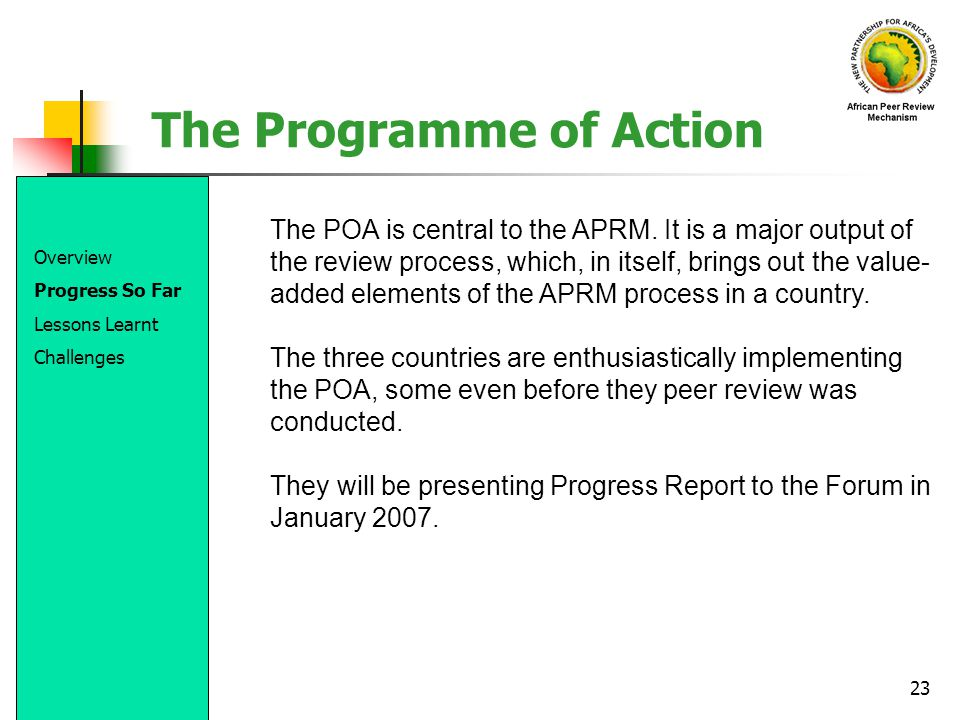 The Programme of Action