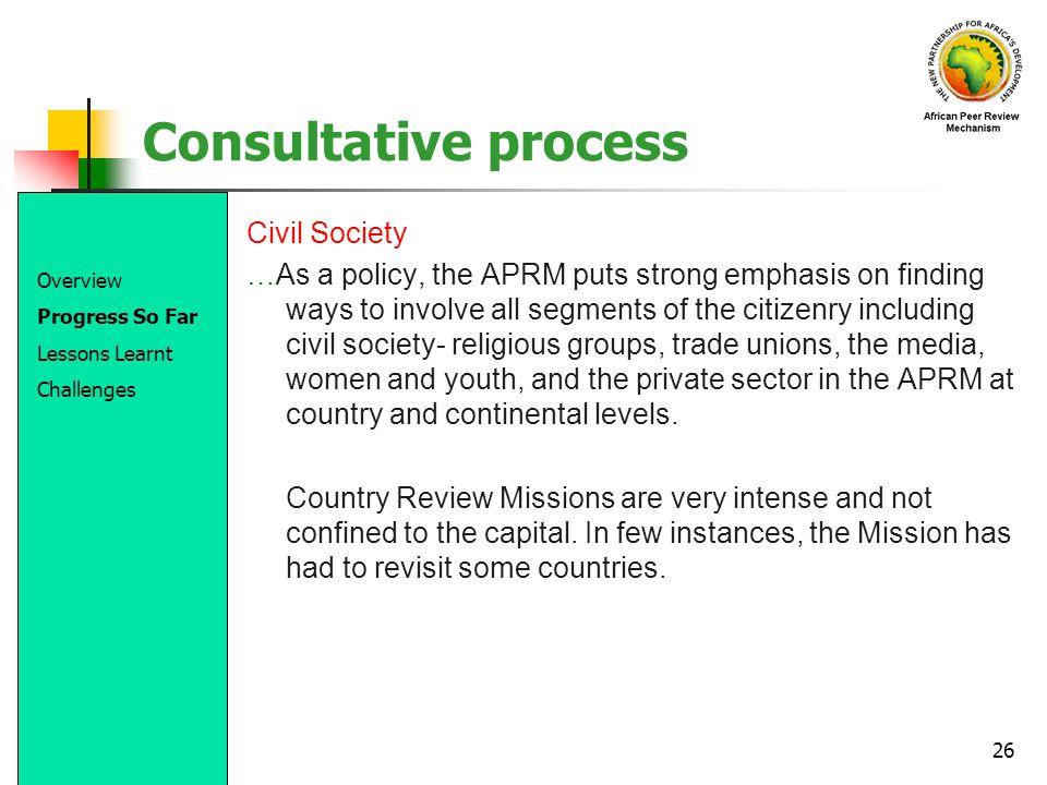 Consultative process Civil Society