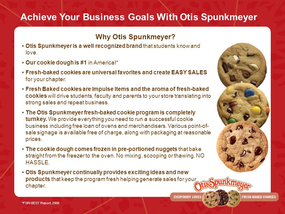 Achieve Your Business Goals With Otis Spunkmeyer