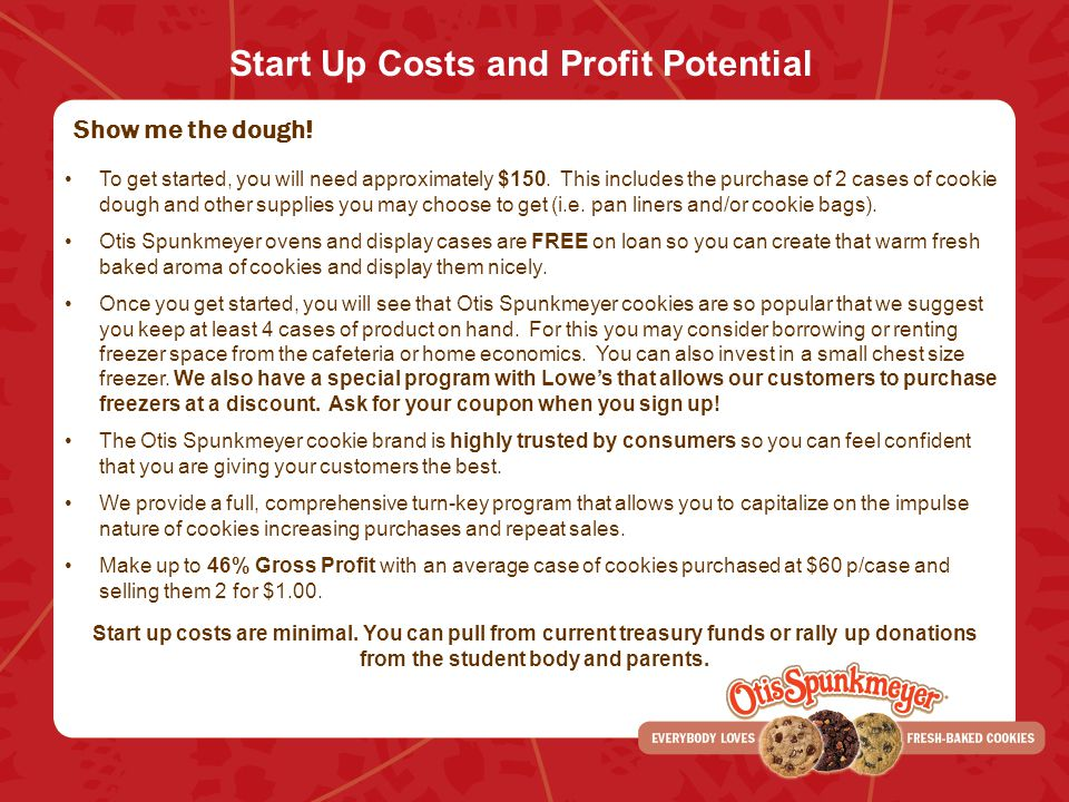 Start Up Costs and Profit Potential