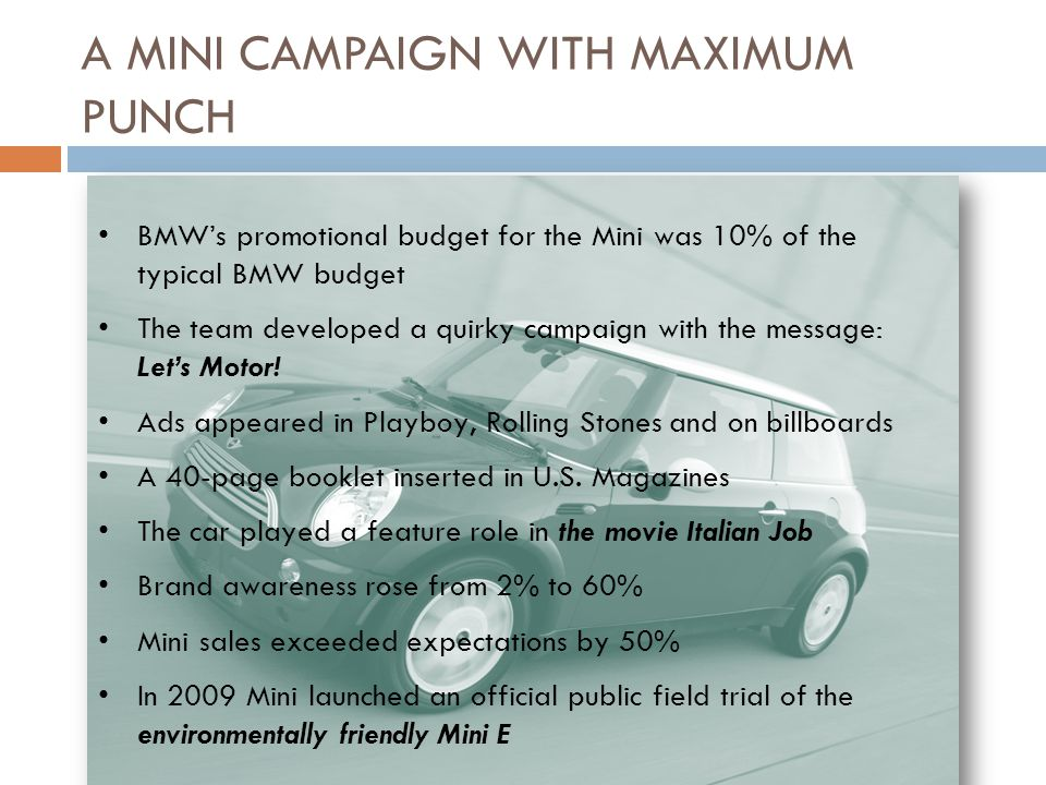 characteristics of the typical bmw target audience The intended audience is popa and the aps membership  and retain the functional characteristics of current  a typical well-to-wheels analysis is shown in.