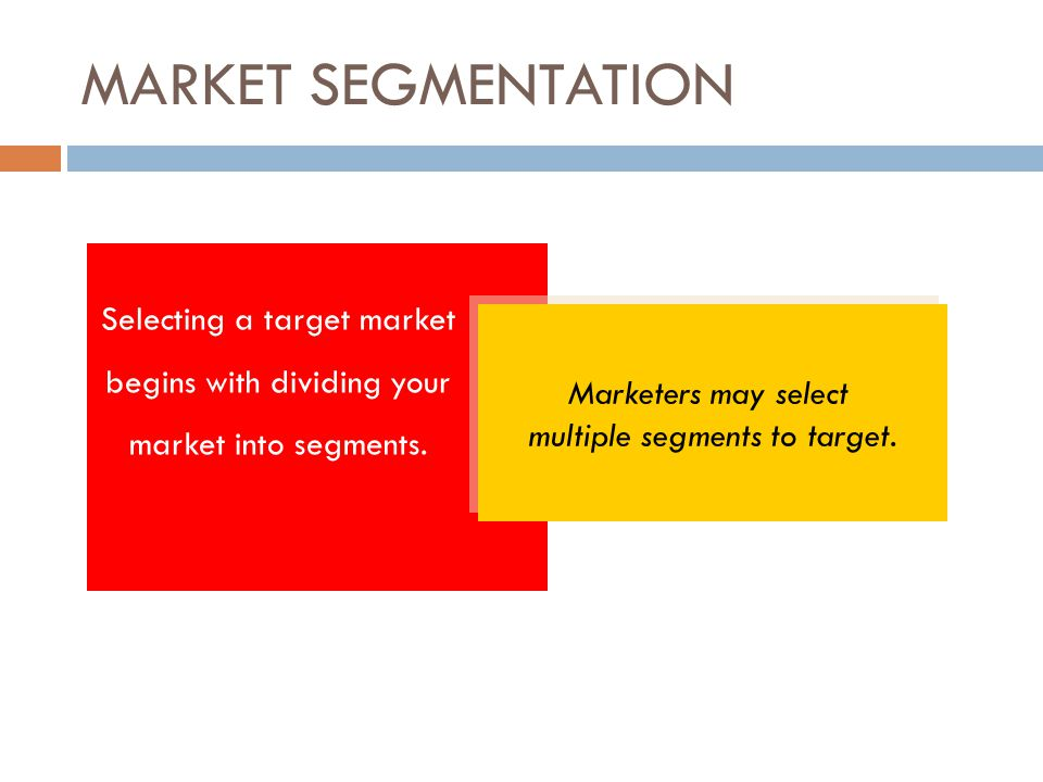 multiple segments to target.