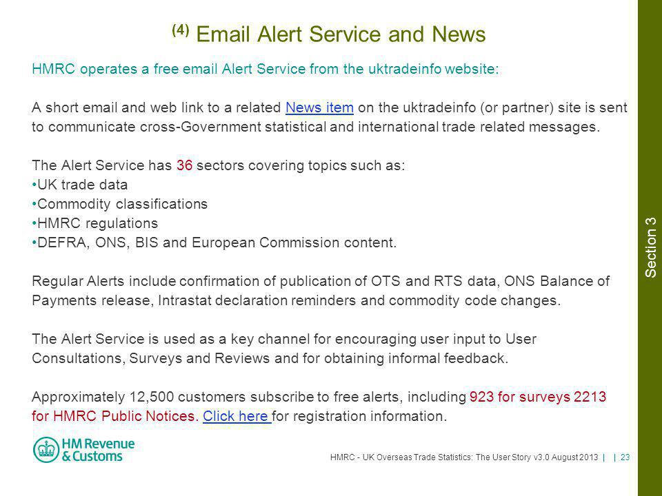 (4) Email Alert Service and News