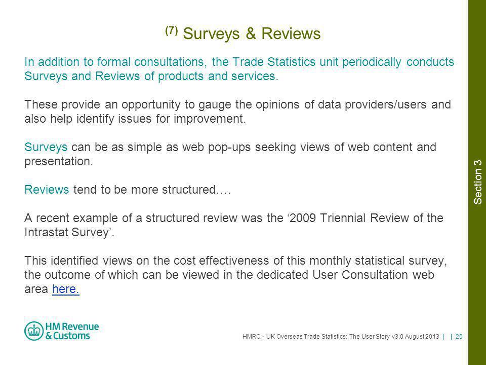 (7) Surveys & Reviews